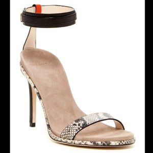 Cole Haan Cyro Snake Ankle Strap Heels